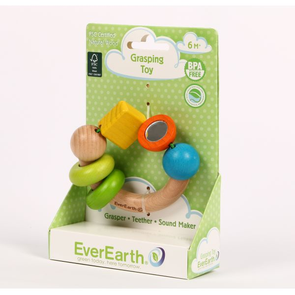 Ever Earth Natural Wood Grasping Toy